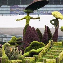 苏州充满童趣的绿雕