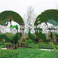 周口立体花坛凤凰与鹤