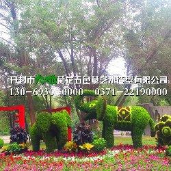 洛阳立体花坛造型大象